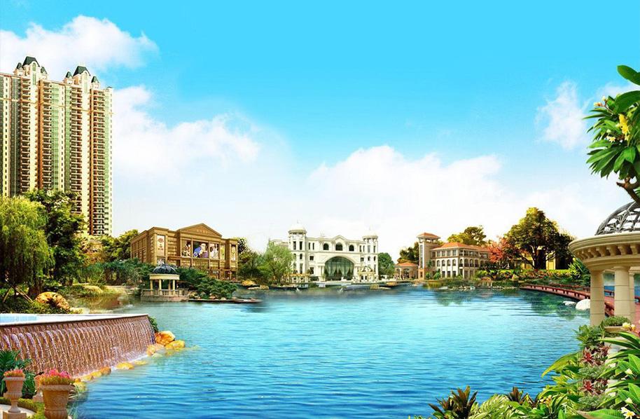 郴州恒大華府首期銷售區園區人工湖改造工程